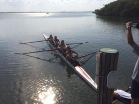 Saint Edwards rowing team