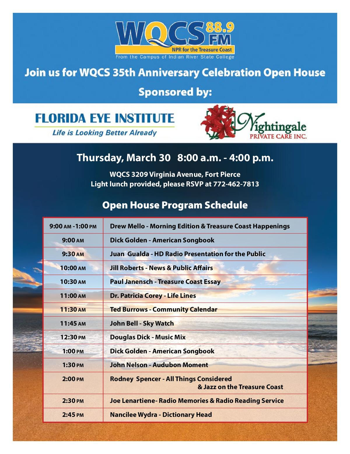npr for the treasure coast join us for the 35th anniversary celebration open house