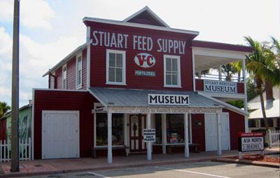 Stuart Heritage Museum, formerly a general store and feed store, stands as one of the oldest commercial buildings in the area.