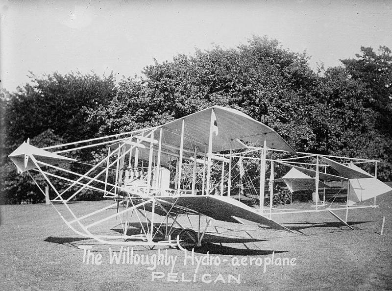 Willoughby used his seaplane to travel between Sewall's Point and Palm Beach.