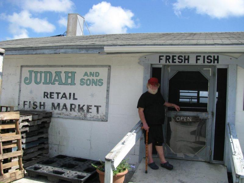 Bobby Judah at his fish house in Sebastian