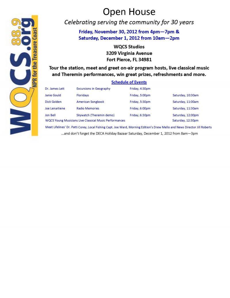 WQCS Open House