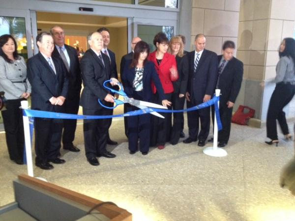 The ribbon cutting at Tradition Medical Center