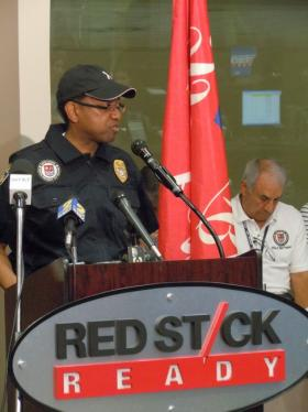 Mayor-President Kip Holden at the East Baton Rouge Parish Emergency Operations Center.