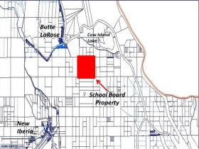 This map from the St. Martin Parish Assessor 's office shows where the school board's section 16 property is located. (WRKF)