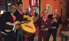 Algunos miembros de Mariachi Jalisco se conocian desde Cuba y Mexico donde tocaban musica ranchera. (Photo credit: Robert Beaird)