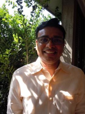 LSU Professor of Finance, Rajesh Narayanan. (WRKF/Tegan Wendland)