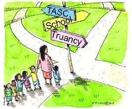 The Truancy Assessment and Service Center (TASC) program aims to intervene early so that kids stay in school. (LSU School of Social Work)