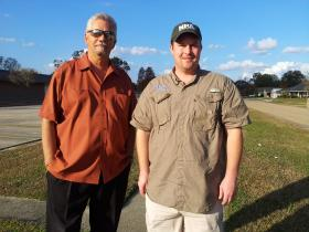 (L to R) David Alvear, president of the Wedgewood security district, and Scott Wilfong, president of the Wedgewood Civic Association.