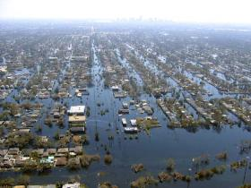 Even days after Katrina passed, parts of New Orleans and surrounding areas were still underwater.