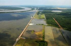 The Army Corps of Engineers is responsible for many flood control projects around the state - like the Morganza floodway.