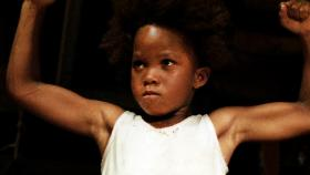 "Quvenzhané Wallis as the lead character, Hushpuppy, in ""Beasts of the Southern Wild""."