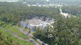 The sinkhole that put many nearby residents under a mandatory evacuation order has grow in area and fluctuated in depth since it first appeared on August 3rd.