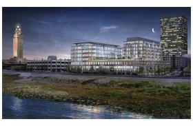 IBM's new building will take the place of The Advocate's old spot on the riverfront.