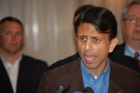 Gov. Jindal didn't say he'd go to the sink hole, but didn't say he won't go.
