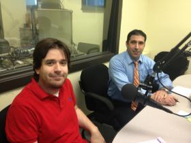 Bruce Parker (l) and Councilman John Delgado (r)
