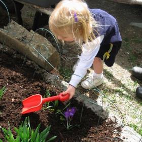 Child in the garden.