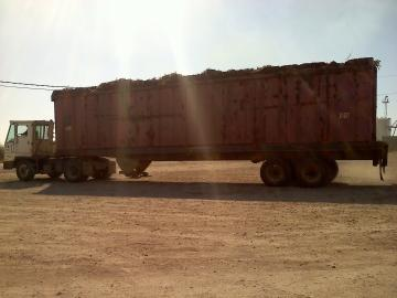 A truck transports sugar cane from the field to the mill at Lula Westfield. (Tegan Wendland/WRKF)