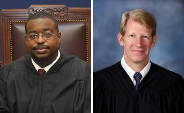 Judge John Guidry (right) and Judge Jeff Hughes face off in a runoff election Dec. 8, 2012.