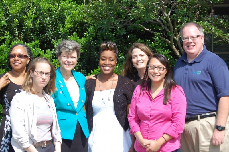 Cokie Roberts with WRKF staff durin her visit to Baton Rouge, May 16, 2013.