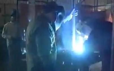 Welding in action at Louisiana School for the Agricultural Sciences.