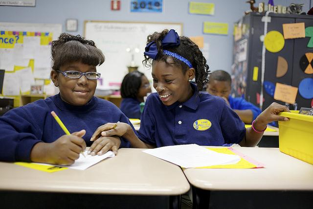 Students at a school run by KIPP in New Orleans.