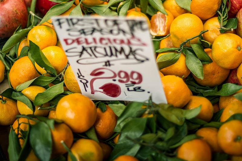 Satsumas for sale.