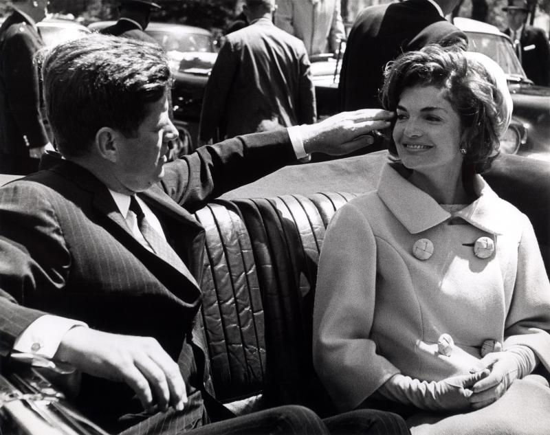 John F. Kennedy and his wife, Jacqueline Bouvier Kennedy.