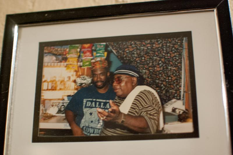 A photo of Turner with the late Tabby Thomas.