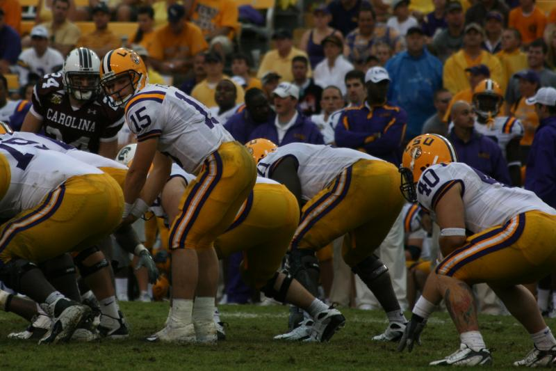 LSU Tigers on the football field.