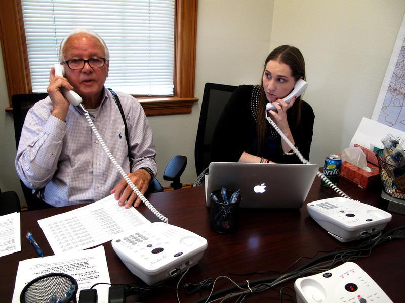Edwards calls prospective voters Sept. 17, 2014.