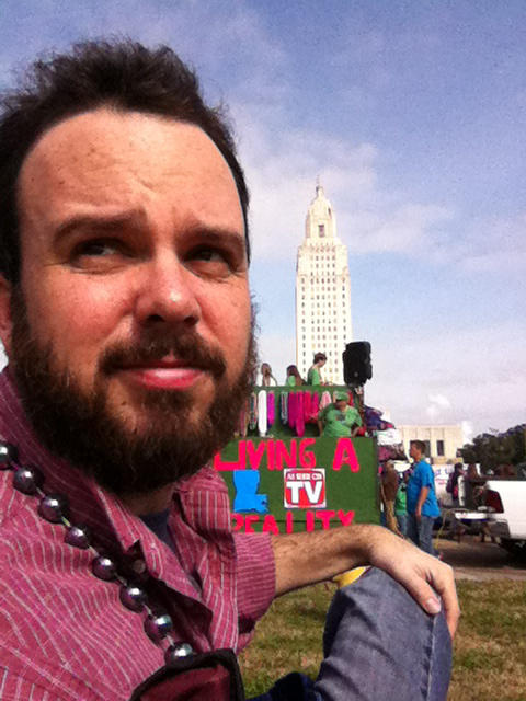 Author M.O. Walsh in his hometown, Baton Rouge.