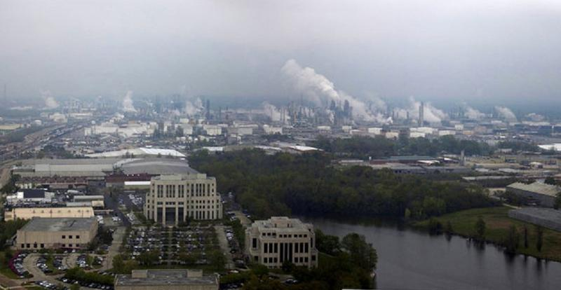 View north from top of Louisiana's state capitol