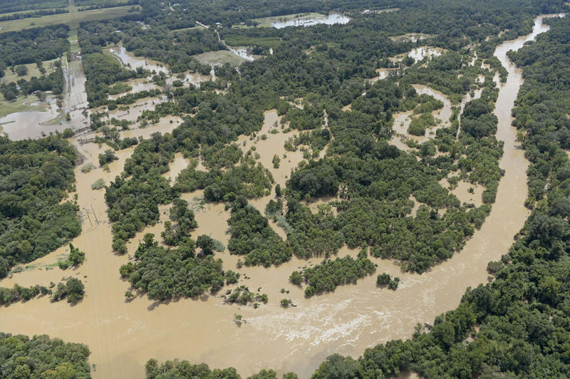 Comite River during August 2016 floods