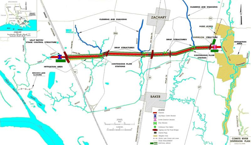 Comite Diversion Canal path