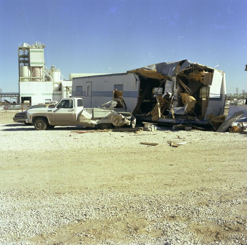 "Office trailer after the ""Jupiter incident"", January 15, 1976"