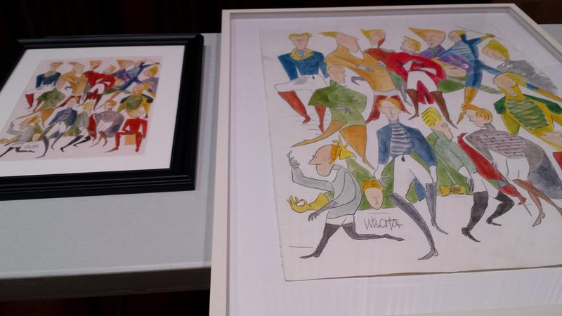 An original (L) and a giclee' (R)