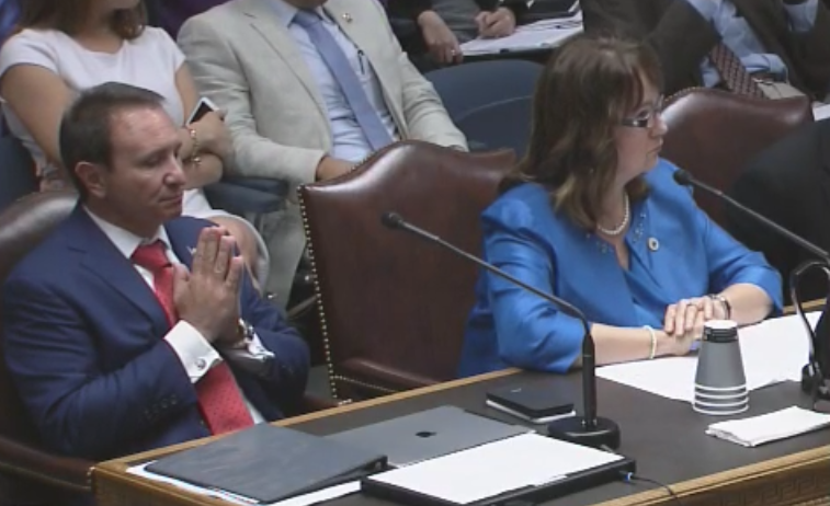 A.G. Jeff Landry and Repr. Valarie Hodges testify for sanctuary cities bill