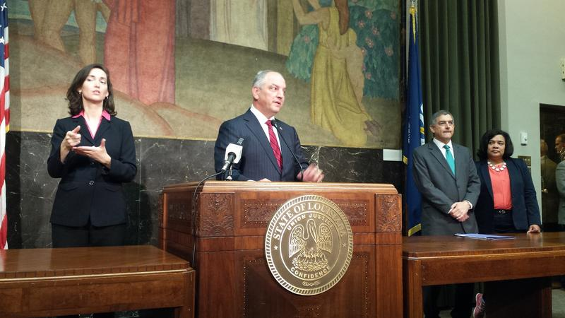 Governor John Bel Edwards addresses the media at conclusion of the 2nd special session