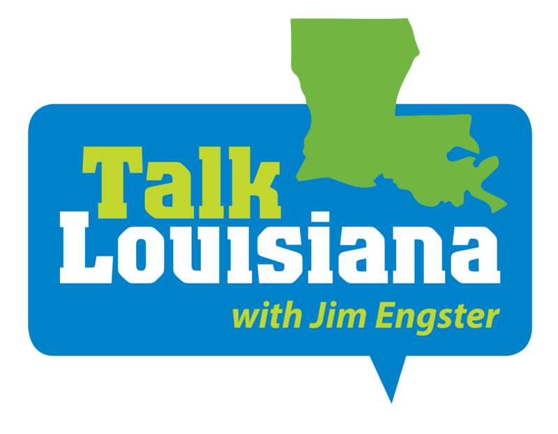 "This is the logo for the ""Talk Louisiana"" programme."