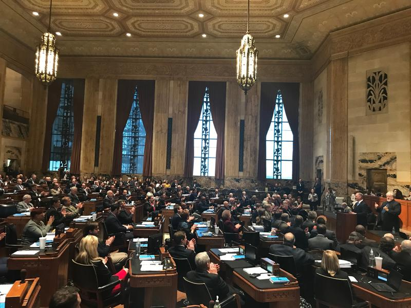 Gov. John Bel Edwards addresses both the House and Senate at the start of the 2018 first extraordinary session.