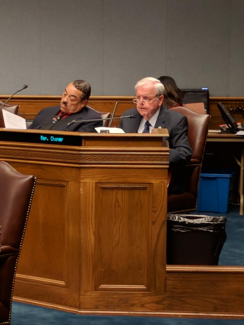 Rep. Kenny Cox, D-Natchitoches, left, said at a hearing Wednesday that the state's high rate of HIV destroys families, homes, communities.