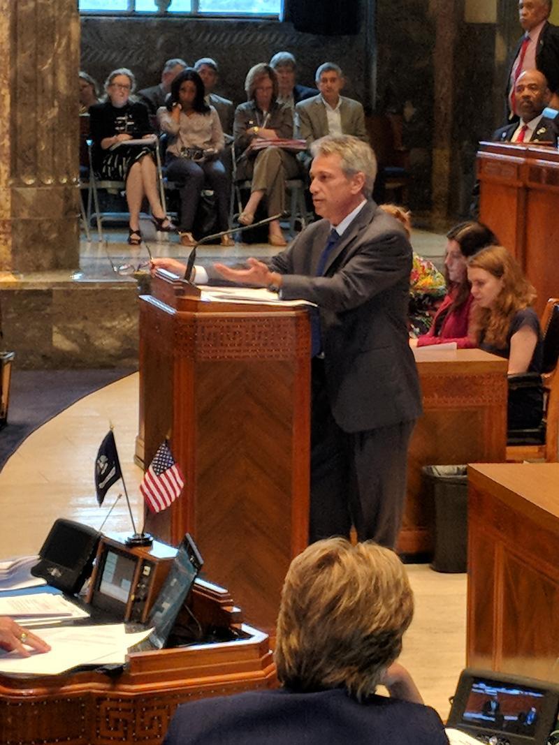 Sen. Eric LaFleur, D-Ville Platte, presented the spending bill that passed the Senate Sunday night.