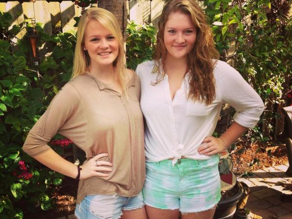 Fraternal twin sisters Megan (left) and Kendall Smith.