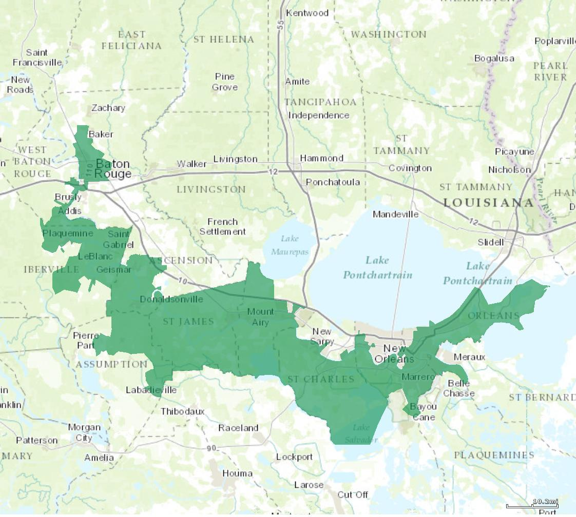 Louisiana S 2nd Congressional District Map