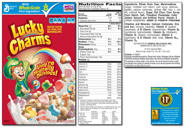 image gallery lucky charms nutrition facts