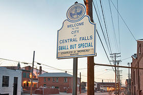 Welcome to Central Falls sign