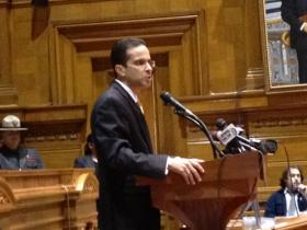 Taveras during his 2012 State of the City address