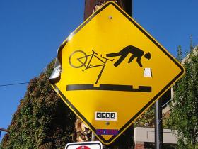 Bicycle sign via Flickr Creative Commons