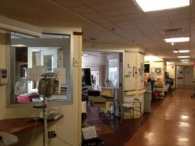Patient rooms on the SICU ward.